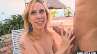 Teen Krystal Star playing with monster dong