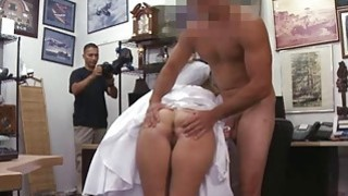 A bride to bes perfect and bouncy ass