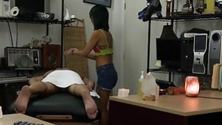 Asian Chic Knows Hot To Give A Massage And A Good Fuck