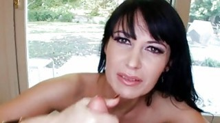 Hottie takes hard cock in her face aperture