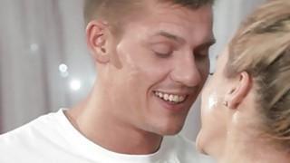 Very good masseur fucks oiled blonde