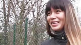 Hot sexy babe Mona Kim fucks a stranger out of fun