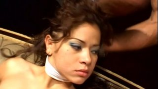 Scorching latina princess Chiquita Lopez pleases two brutal cocks