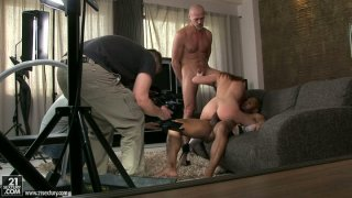 Tasty tight asshole of hot teen Gracie gets screwed in threesome