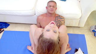 Anya Olsen rides her older lover cowgirl style