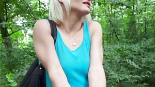 Lonely blonde bangs for cash outdoor
