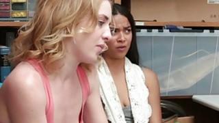 Horny mall officer fucks Bonnie Grey and Maya Bijou