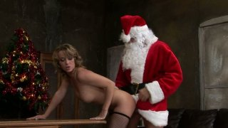 Slutty Kitty Cat has a special gift from Santa - he fucks her hard