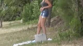 Bigtit bikini amateur fucked outdoors