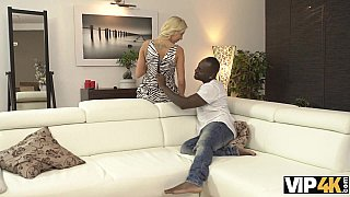 Black gentleman makes beautiful teen Karol Lilien