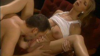 Alluring blonde girl Brooke Banner is having passionate oral sex