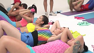 Colorful Orgy with Fitness Girls