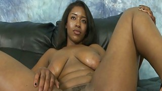 Spread pussy black girl extreme oral sex