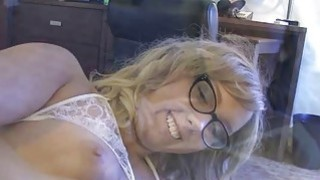 Girlfriend Chase Hart in glasses pounded by throbbing cock