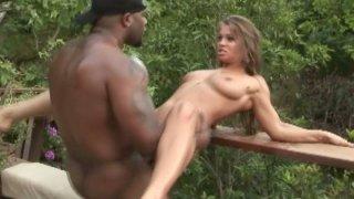Charming babe Rita Faltoyano adores big meaty black cock